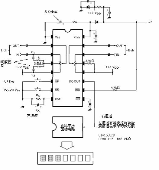 供应pt2256 双声道音量控制ic