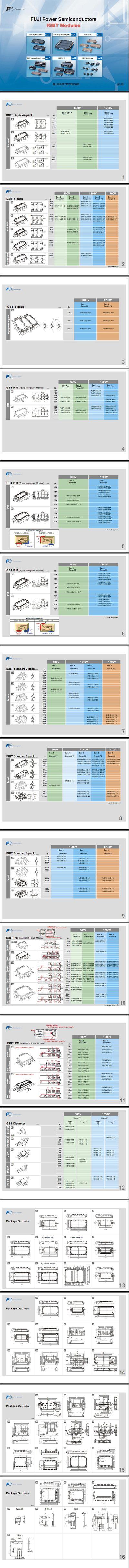 富士IGBT模块资料、富士IGBT PDF文件。变频器专用富士模块