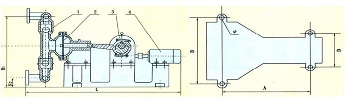 电动隔膜泵产品结构图