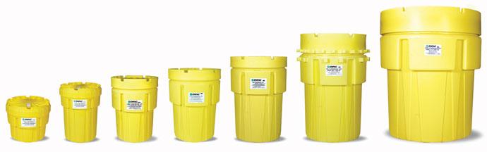 可移动防泄漏储运桶 enpac 1299-ye,95加仑 移动式废液收集桶(室内)