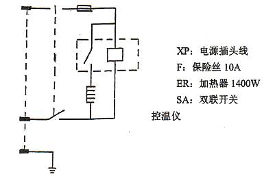 六,电热恒温真空干燥箱使用说明书电气原理图  &nbsp