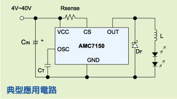 AMC7150降压1.5A 驱动1w、3W的LED