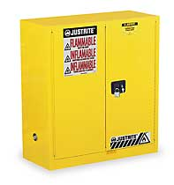 JUSTRITE 893000 Safety Cabinet, Manual, 2 Door, 30 Gal