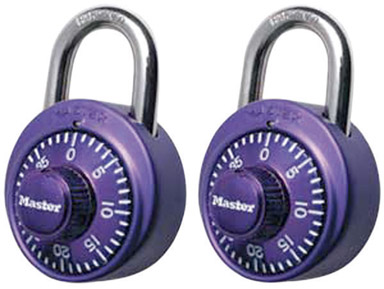COMBINATION LOCK IN ASSORTED COLORS 1-7/8""