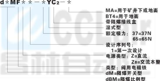 dMFZ-37-MA  dMFB-37-BT4  d*MF-45   dBMF-45    隔爆型阀用电磁铁