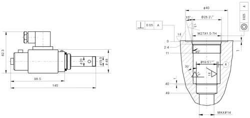 BLCY-6  BLCY-6-7-90   BLCY-6-16-90   BLCY-6-25-90   比例螺纹插装式溢流阀