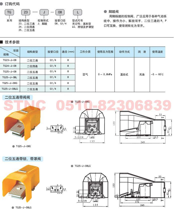 TG25-J-08L   TG25-J-08G    TG25-J-08LG   脚踏阀