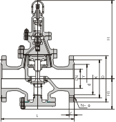 先导活塞式蒸汽减压阀