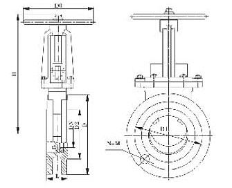手动刀型闸阀PZ73H/Y