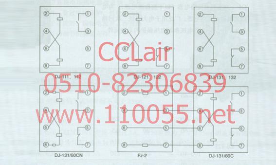 dj-131 dj-131/60c dj-112 dj-122 dj-132 dj-131/60cn 电压继电器