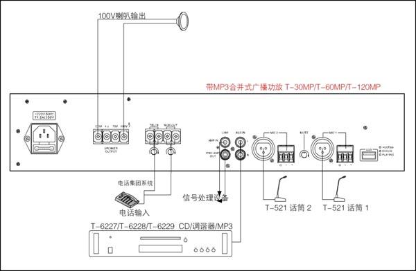 产品[带音源合并式广播功放(内置mp3) ]资料