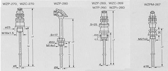 WZP-269|单支的铂热电阻