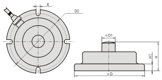 Load Cell CZL 201 Dimension