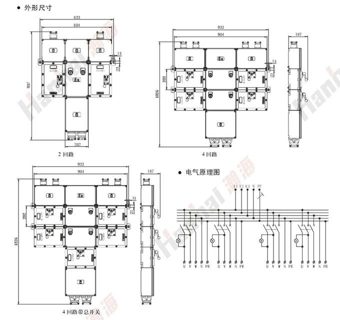 防爆动力检修配电箱(iib) bxx