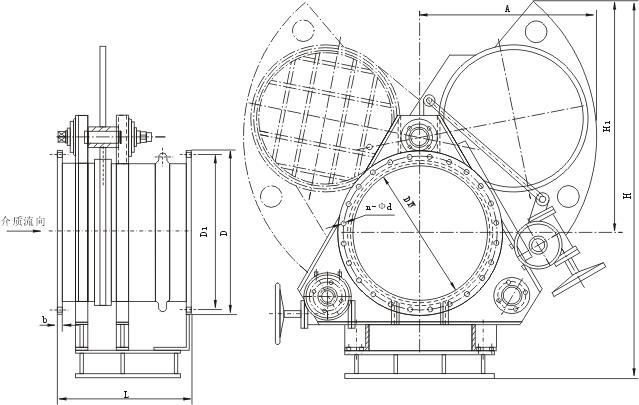 蜗轮扇形眼镜阀结构图