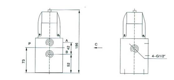 二位四通电磁阀 q24dh;d2h图片