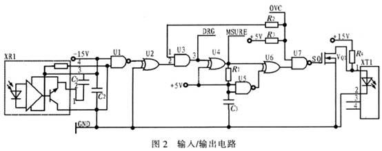 异或门u6,与非门u5,电阻r1和电容c3组成确认脉冲发生