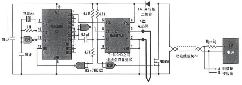 热电偶感测接点必须与电路电隔离.