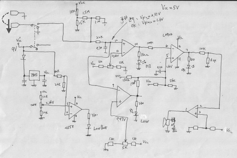电路很简单,一片lm324
