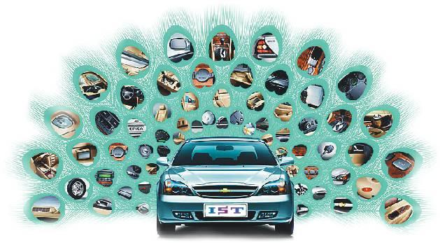 电子装置: 连接器,安全气囊模块,车灯,娱乐系统,防盗锁,遥控锁,电子