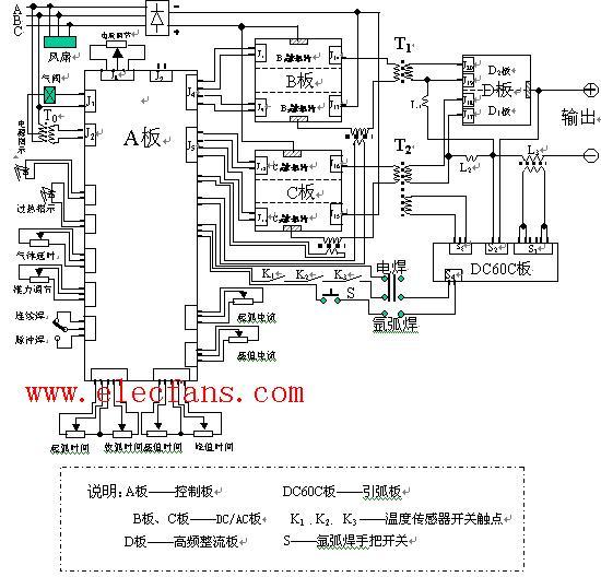 逆变焊机电路图