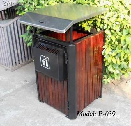 厂家订做西安园林垃圾桶,户外垃圾桶,公园垃圾桶价格