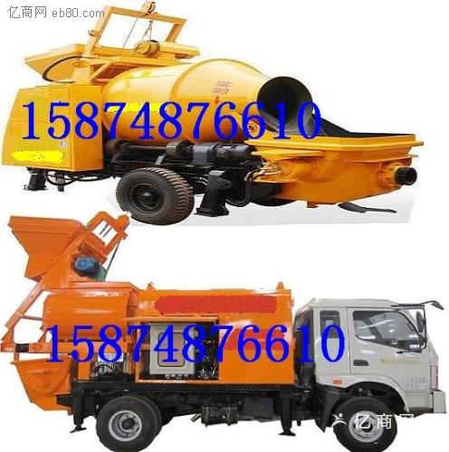 湖北武汉搅拌车载泵搅拌拖泵小型旋挖钻机搅拌机泵