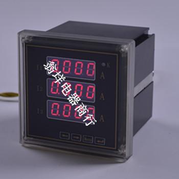 三线电压组表使用说明 三相四线数显电压表接线