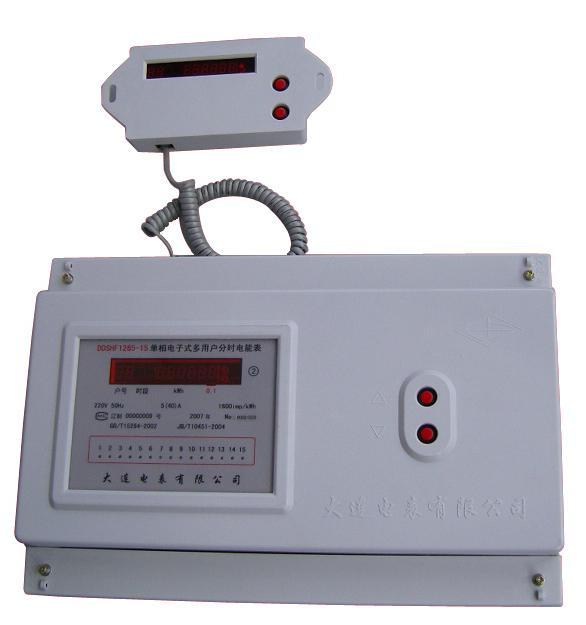 单相电子式多用户分时电能表(ddshf1265型)