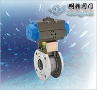 上海氣動超薄型法蘭式球閥 SMQ671F
