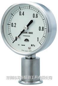 旭计器干式隔膜式压力计 881D