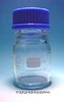 透明广口试药瓶 德国Schott(蓝盖,耐热至140℃)