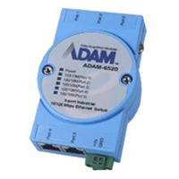 研华5端口10/100Mbps 工业以太网交换机/带光纤接口 ADAM-6520