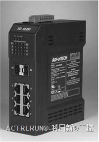 研华带有6个10/100Base-TX端口及2个SFP(mini-GBIC)端口的工业千兆以太网交换机 EKI-6628F