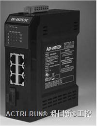 研华带6个10/100Base-TX端口及1个100Base-FX光纤端口的工业以太网交换机 EKI-6527系列
