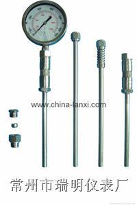 充油压力式温度计/耐震式充油温度计/船用温度计/排气管温度计 LX-014-D