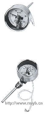 电接点双金属温度计,双金属温度计,径向型电接点双金属温度计 WSSX