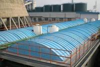 污水池恶臭气体收集装置 -玻璃钢盖板 污水池罩