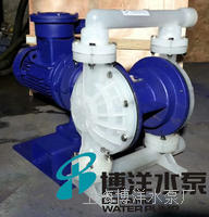 江苏化工厂专用耐腐蚀电动隔膜泵 工博牌直销工程塑料电动隔膜泵 工程塑料pp电动隔膜泵 DBY型