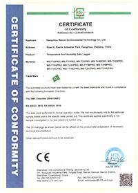 WS-PRO系列记录仪CE证书