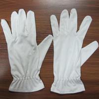 佛山批发白色超细纤维无尘手套/涤纶/锦纶