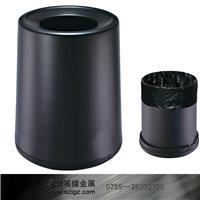 黑色铝合金锥形房间桶