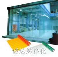 透明门帘,静电门帘,浅绿色透明门帘 2mm*200mm*30m
