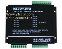 光隔RS232/RS-485转8路RS-485集线转换器 RS-485HUB转换器
