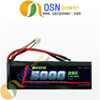 7.4V 5000MAH Li-polymer RC battery pack