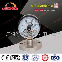 法兰四氟隔膜压力表---强防腐 YTP-60B/100B/150B