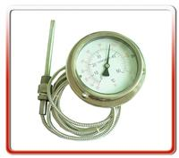 100MM轴向全钢软管连接温度计  WTZ/WTQ-280-01