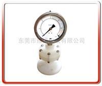 铁弗龙工字型法兰式隔膜压力表 Y100PP-MG001