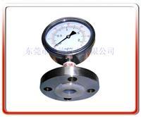 衬四氟法兰式隔膜压力表 Y100BF-MF01