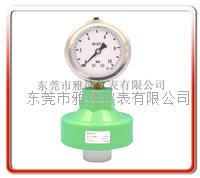 60MM径向外螺纹PP隔膜式压力表 产品型号: PPFC-P0801